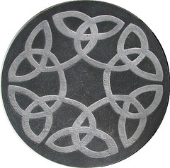 Celtic Knot in Limestone by Robert Spencer on Flickr