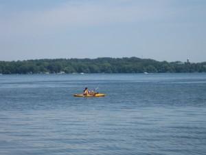 Kayak on Cayuga Lake