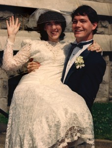 Pam and Mike on their wedding day.