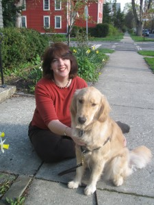 Woman and Golden Retriever