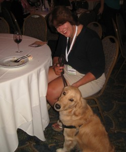 Golden Retriever at BlogPaws Yappy Hour