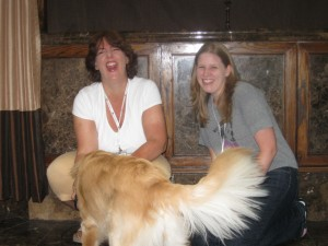 Honey the Golden Retriever, Pamela Douglas Webster & Pup Fan