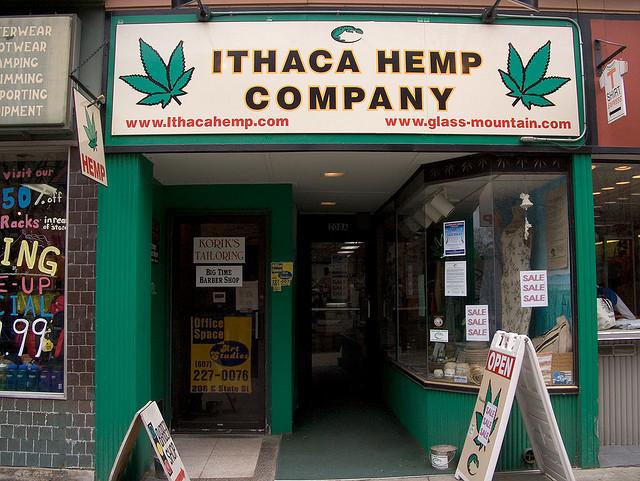 Ithaca Hemp Company Store on the Ithaca Commons