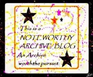 Noteworthy Archive Blog Award - Just Ramblin'
