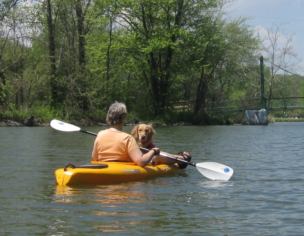 Kayaking away from Coyote