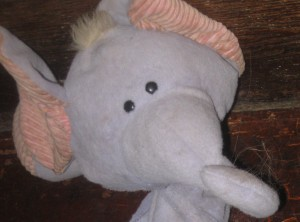 Stuffed Purple Elephant