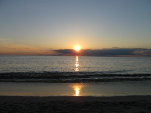 Sunset over Delaware Bay