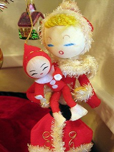 A Japanese Christmas ornament.