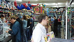 What don't you see in a comic book shop? Women in their 40s.