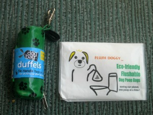 Degradable and flushable dog poop prize giveaway.