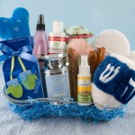 Hanukkah gift basket for dogs and humans.