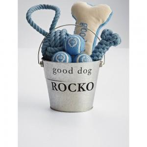 Harry Barker dog toy bucket.