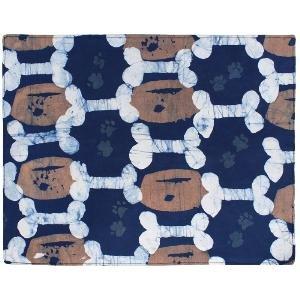 Fair trade, batik feeding mat for pets.