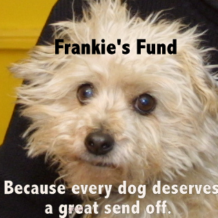 Frankie's fund badge - because every dog deserves a great send off.