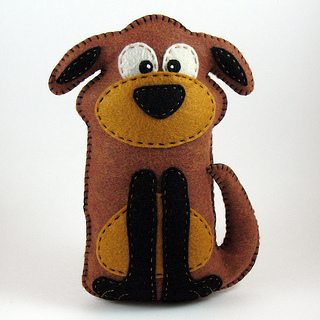 A stuffed dog is easy to care for.