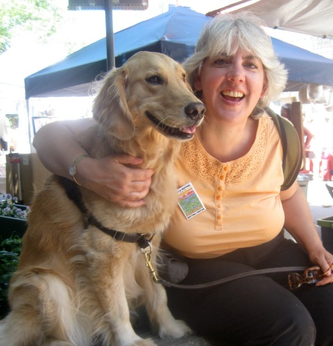 Honey and Pam at the Ithaca festival.