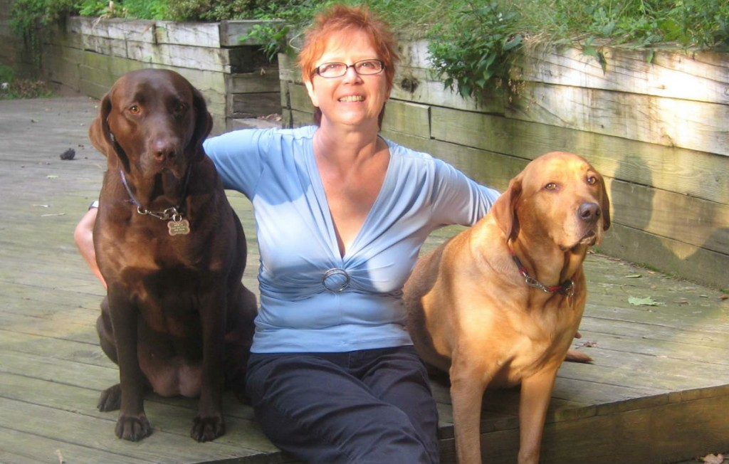 Jodi Stone with Sampson and Delilah.