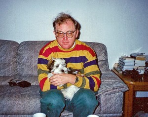 A man who looks like his dog.