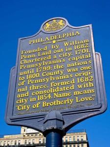Philadelphia sign.