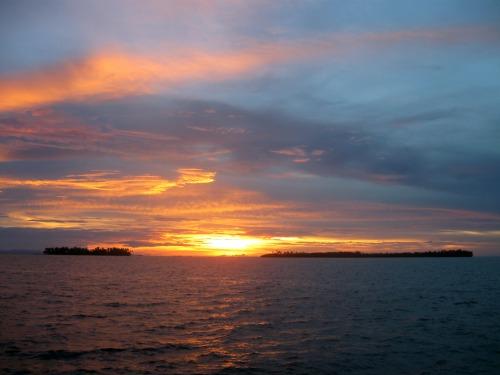 Guna Yala sunset in Panama.