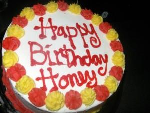 Honey's birthday cake