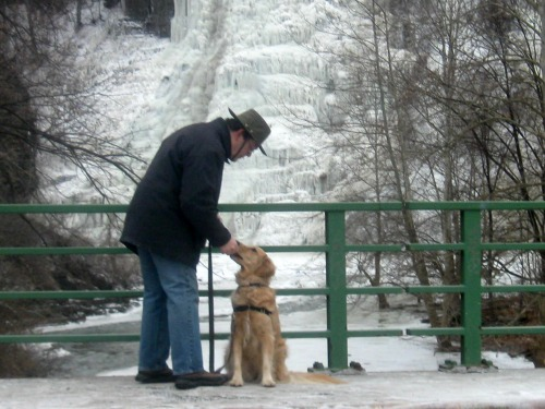 Mike and Honey at Ithaca Falls.