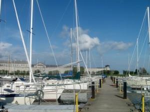 Olympic Harbor Park Marina in Kingston, Ontario.