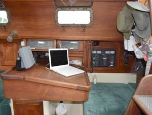 The navigation station in Meander.