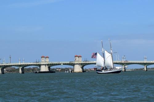 Schooner Freedom sailing at St Augustine, Florida.