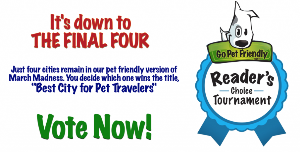 Best City for Pet Travelers final four.
