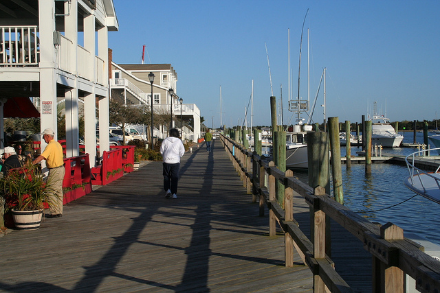 Downtown waterfront in Beaufort, NC.