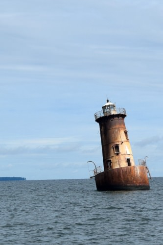 Abandoned lighthouse on Chesapeake Bay.