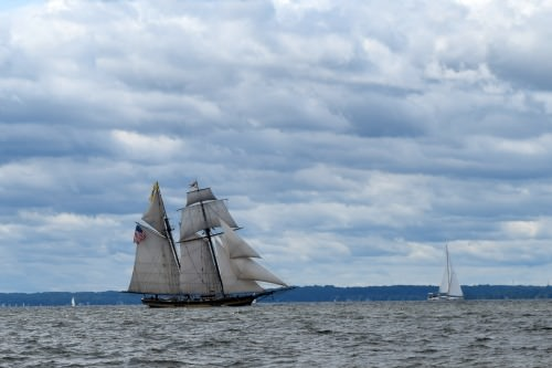 Pride of Baltimore under sail outside Annapolis.