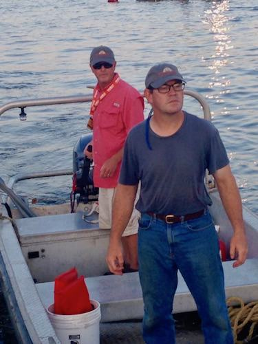 Mike on the water crew of the Annapolis Boat Show.