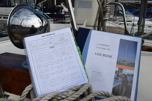 Logbooks for s/v Meander.
