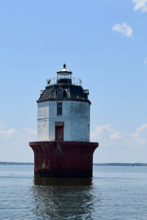 Smith Point Light near the Potomac River.