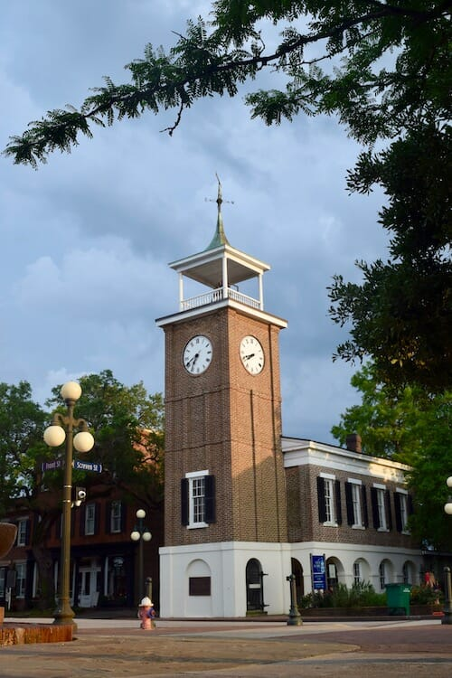Rice Museum clock tower in Georgetown.