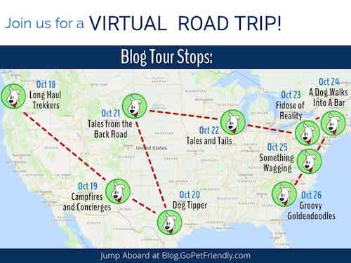 Join the Virtual Pet-Friendly Road Trip. Here's the map to follow.